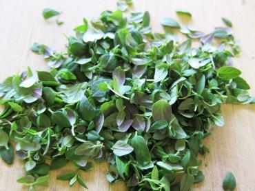 fresh <b>thyme</b> leaves adding mushrooms soy sauce cream sherry <b>thyme</b>